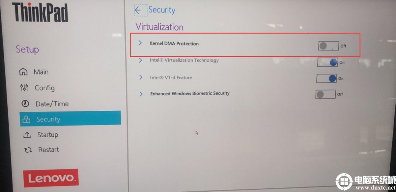 關閉kernel DMA protection.png