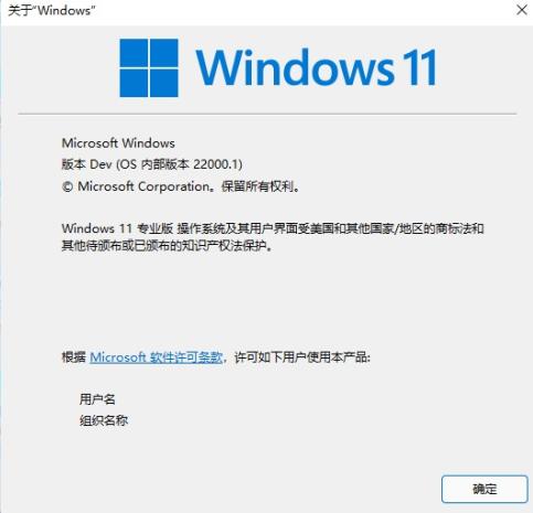 查看windows11版本號