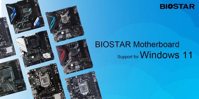 映泰公佈支持微軟Win11系統的主板系列